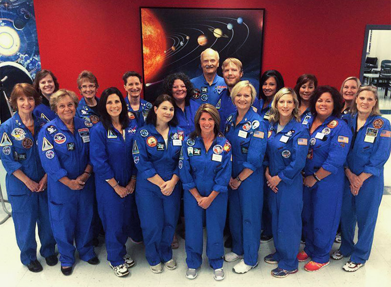 Group photo of Challenger Learning Center staff members